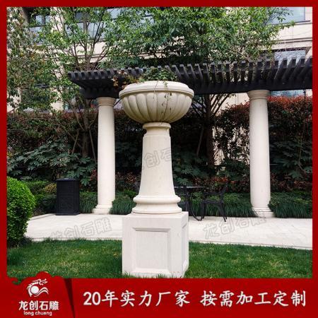 订做各类石雕花盆花钵景观园林盆栽