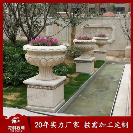 石雕花盆生产厂家 石雕花盆供应商