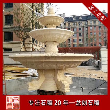 崇武石雕喷泉厂家 大型石雕喷泉制作