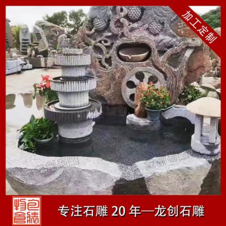 石雕喷泉雕塑厂家 园林景观石雕喷泉直销