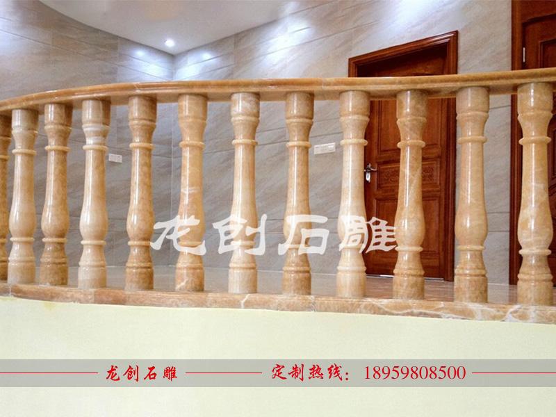 石扶手栏杆 石材阳台栏杆