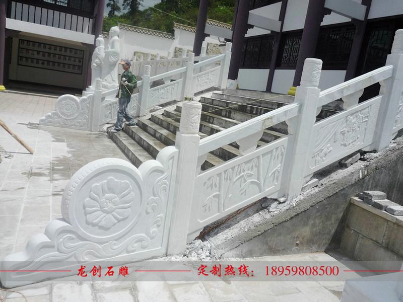 楼梯大理石栏杆 楼梯扶手安装