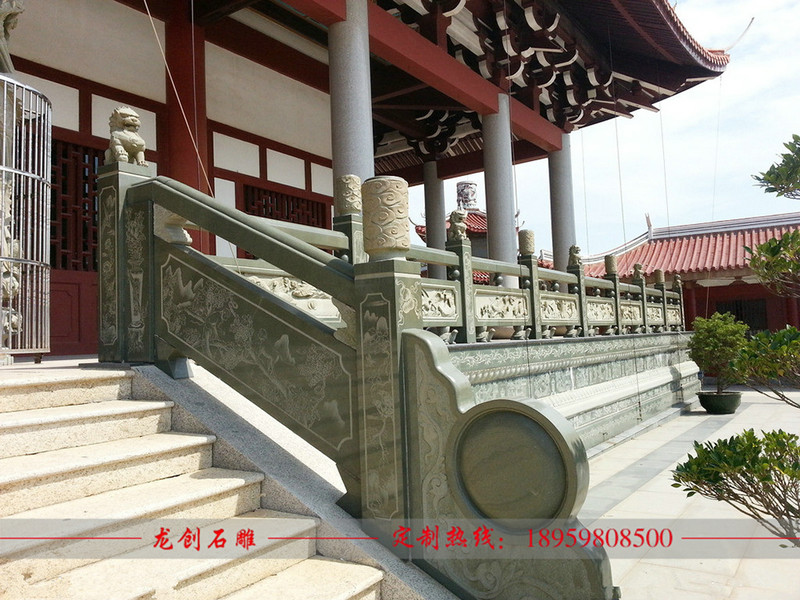 寺庙楼梯栏杆