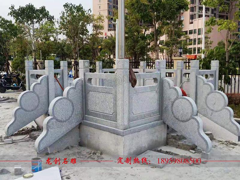 洛江实验小学旗台栏杆制作安装