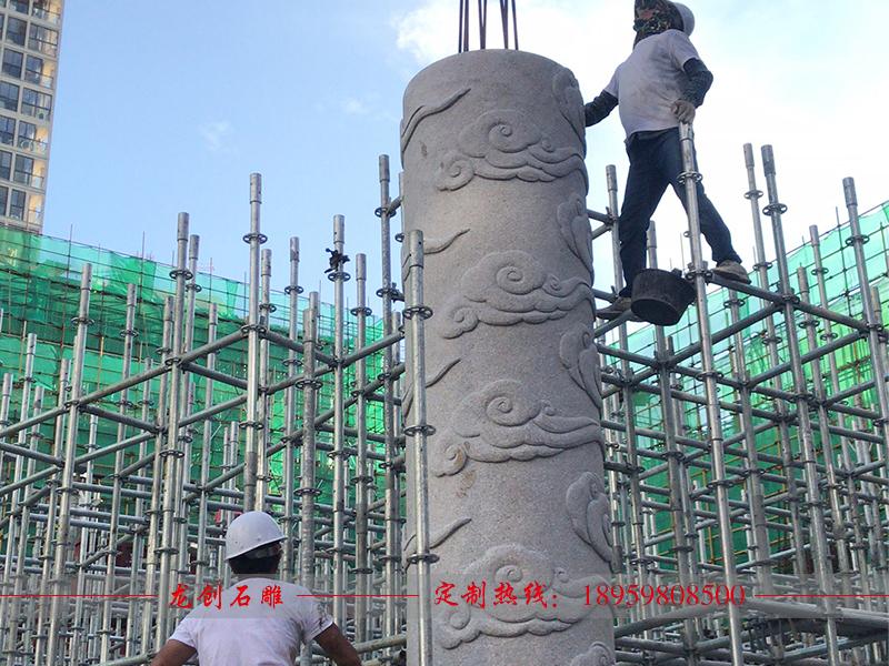 福建省石狮博物馆祥云柱制作安装