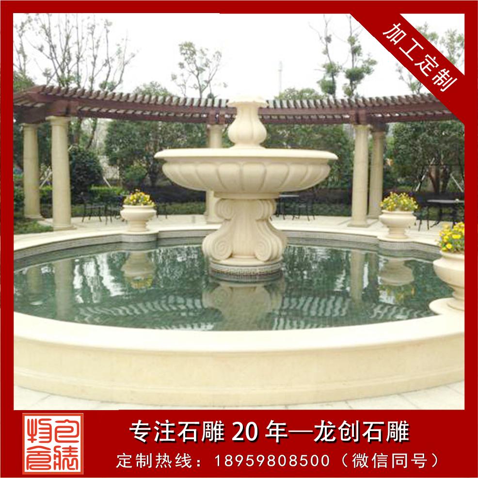 浙江省台州市紫薇苑石雕水钵制作安装