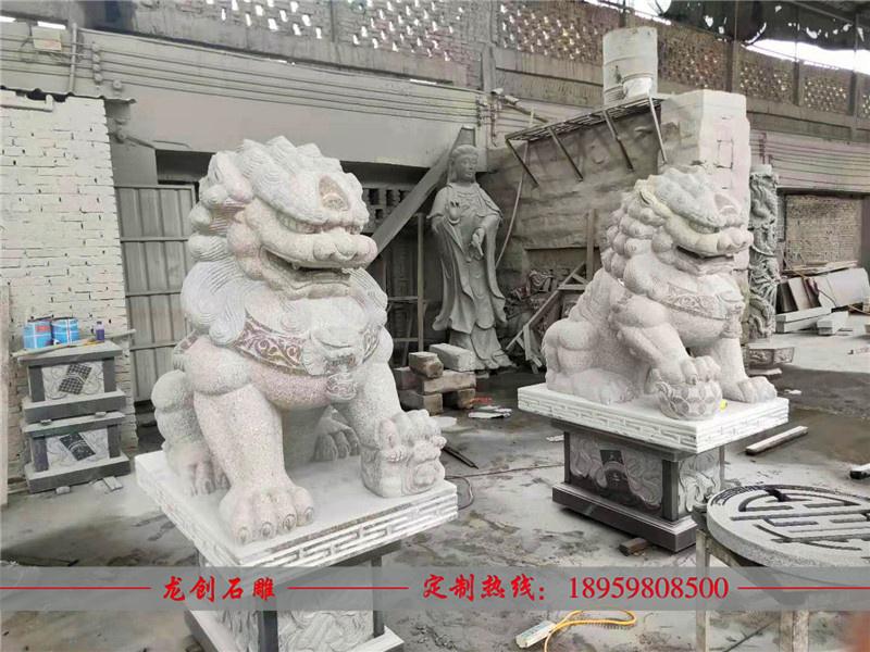 石雕狮子安装