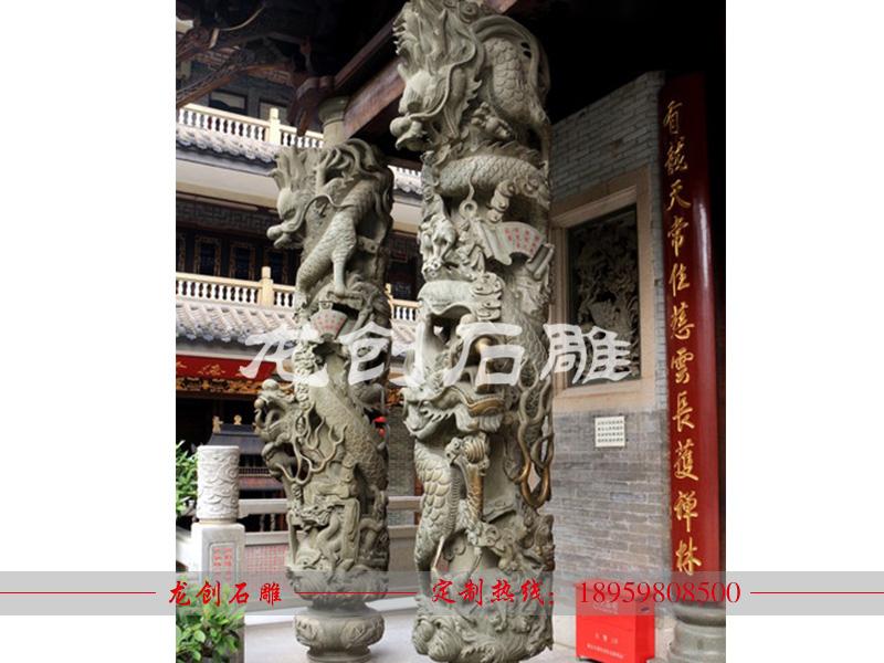 哪里有批发石雕龙柱的 制作石龙柱厂家