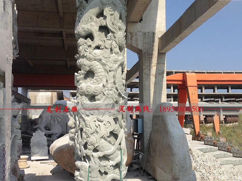 祠堂石雕龙柱 小型石雕龙柱