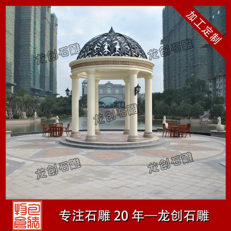 欧式石雕凉亭图片