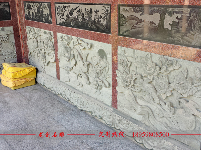 寺庙浮雕图案花样,佛教寺庙浮雕