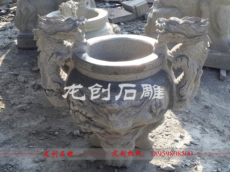 石雕圆形香炉图片大全及介绍