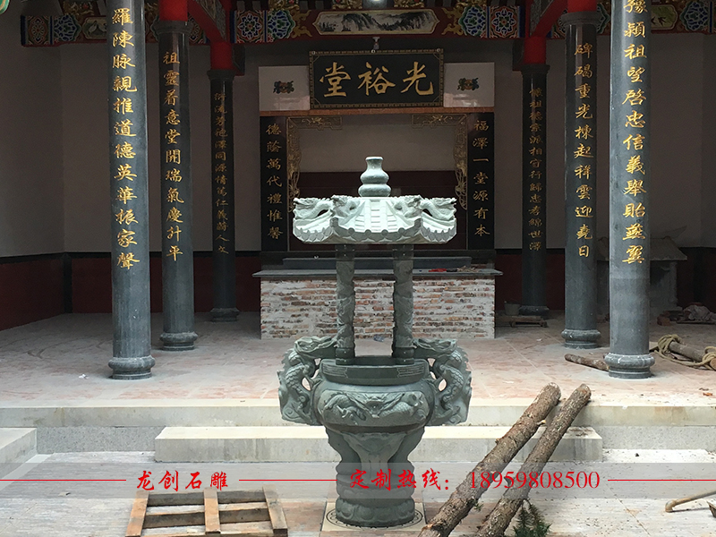 寺庙香炉哪里有卖 石头香炉定做