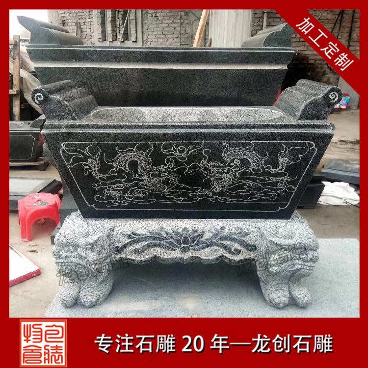 室外石材香炉图片