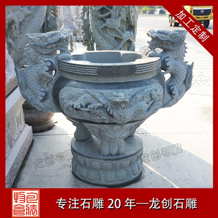 寺庙石雕香炉样式图片