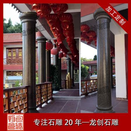 花岗岩石材圆柱 芝麻黑石材圆柱 枫叶红石材圆柱