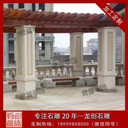 石材方柱子设计 石材方柱子图片 石雕小方柱