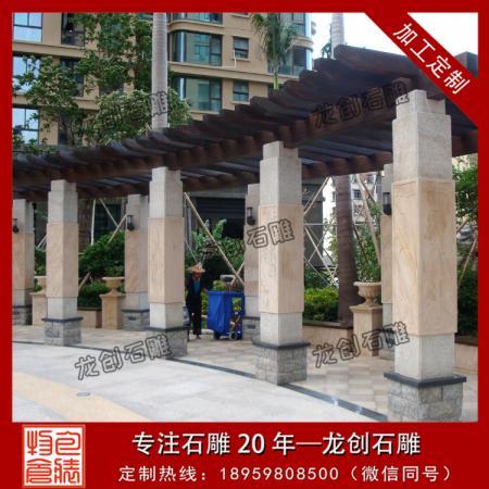 石雕方柱图片 中式石雕方柱 石雕方柱子