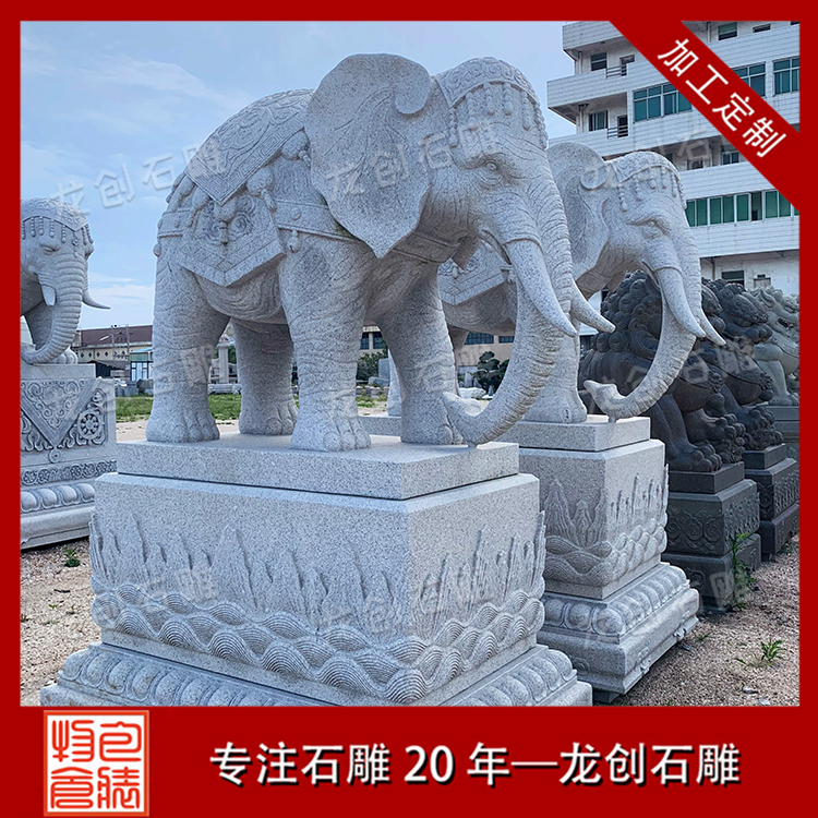 石雕大象厂家图片