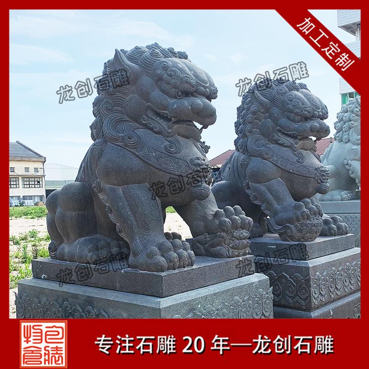 石雕北京狮图片