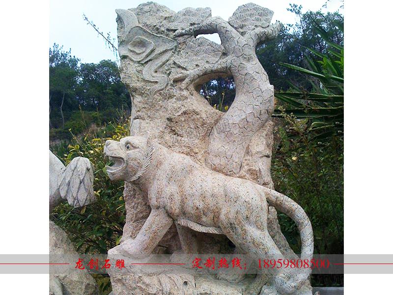 石雕十二生肖工艺品