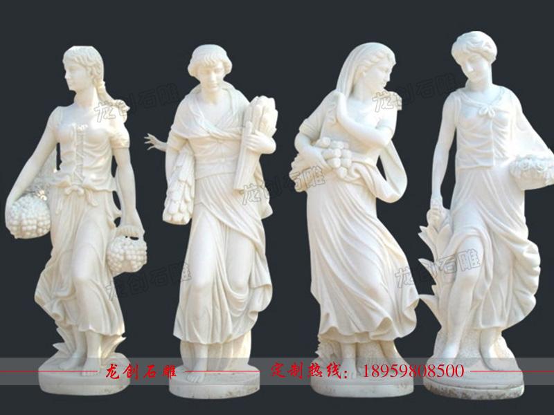 汉白玉西方人物雕刻 天使人物石雕