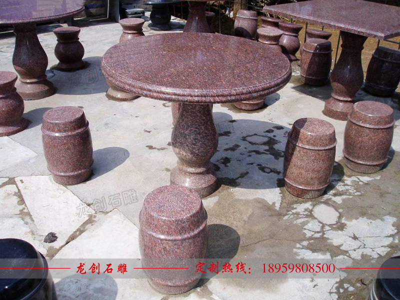 户外石材桌椅 石材桌椅定做厂家