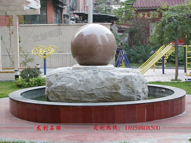 石材风水球喷泉