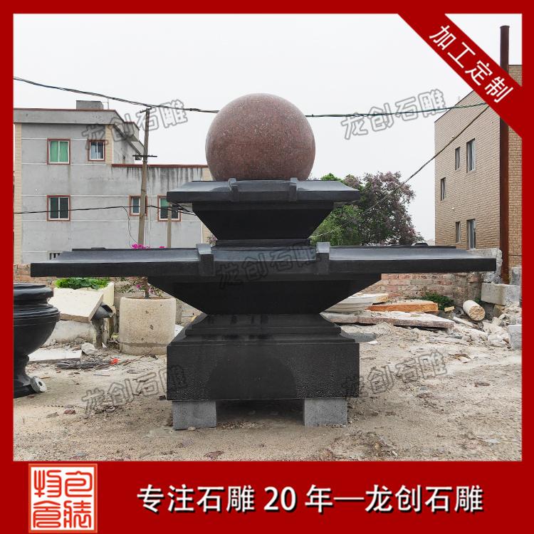 石雕风水球图片展示