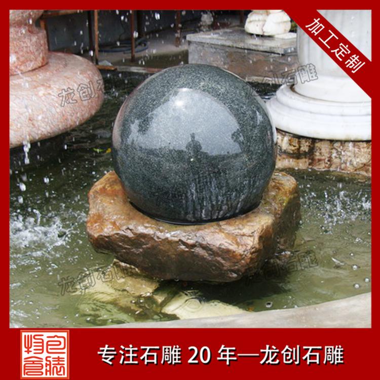 单层石材风水球图片及样式