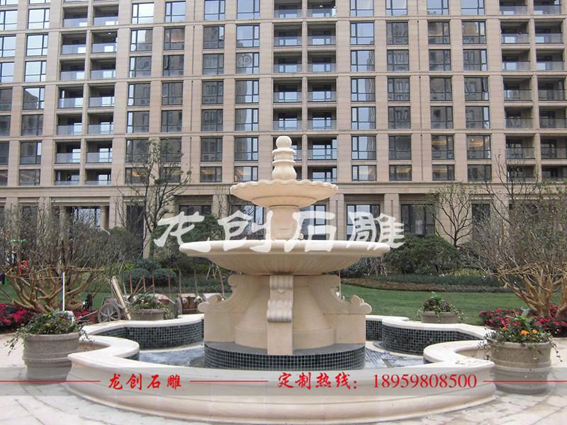 广场石头喷泉多少钱 石雕喷泉定制价格