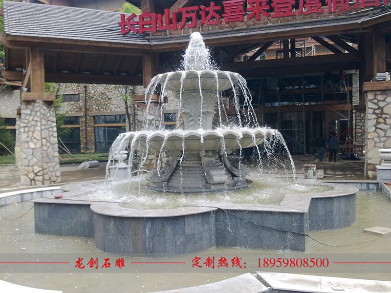石雕流水喷泉