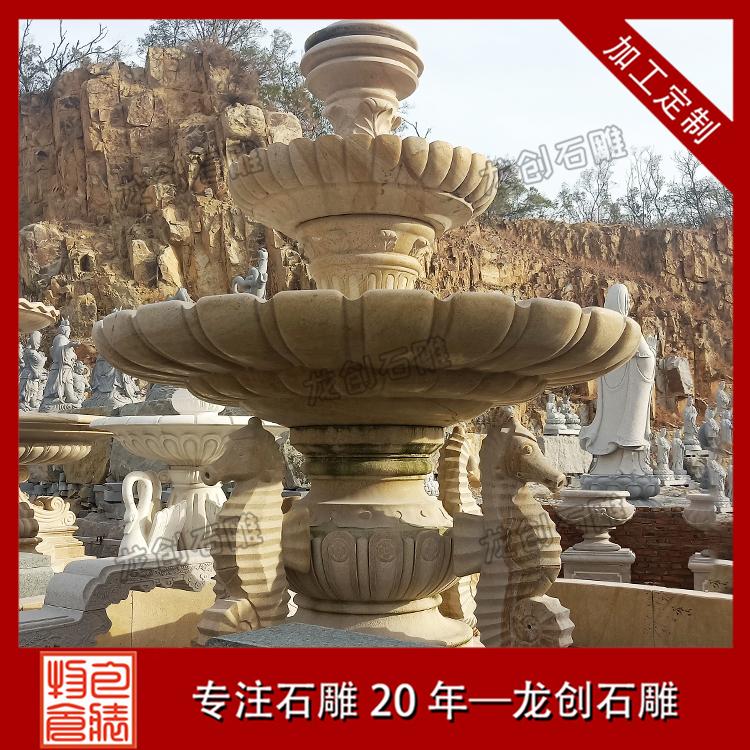 石雕喷泉水钵样式及图片