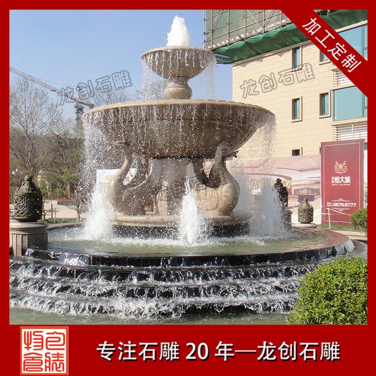 动物喷泉雕塑图片