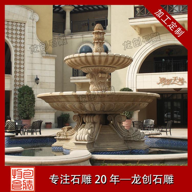 石雕盆式喷泉样式及图片