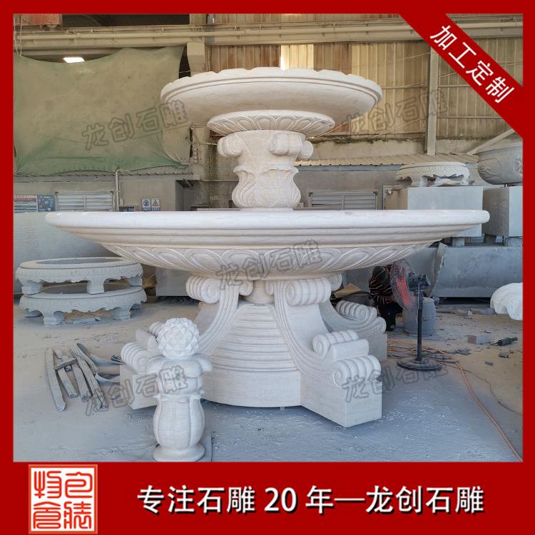 石雕喷泉水景厂家图片