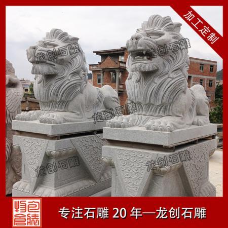 石雕狮子多少钱一对 青石雕刻小狮子价格