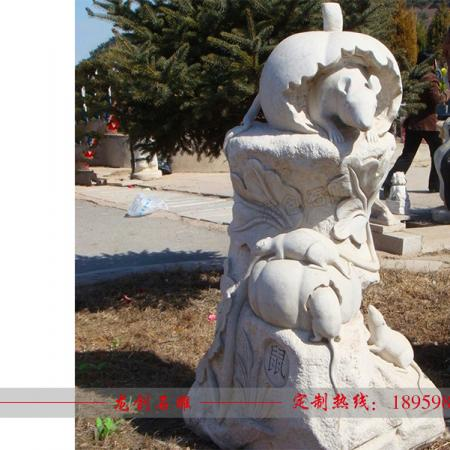石雕十二生肖批发 石雕动物厂家