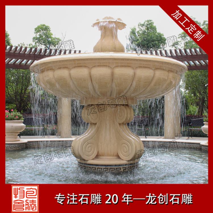 各类石雕喷泉水钵样式及图片