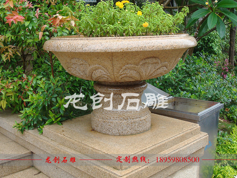 石雕花盆批发价格