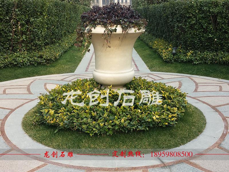 欧式小区石雕花盆