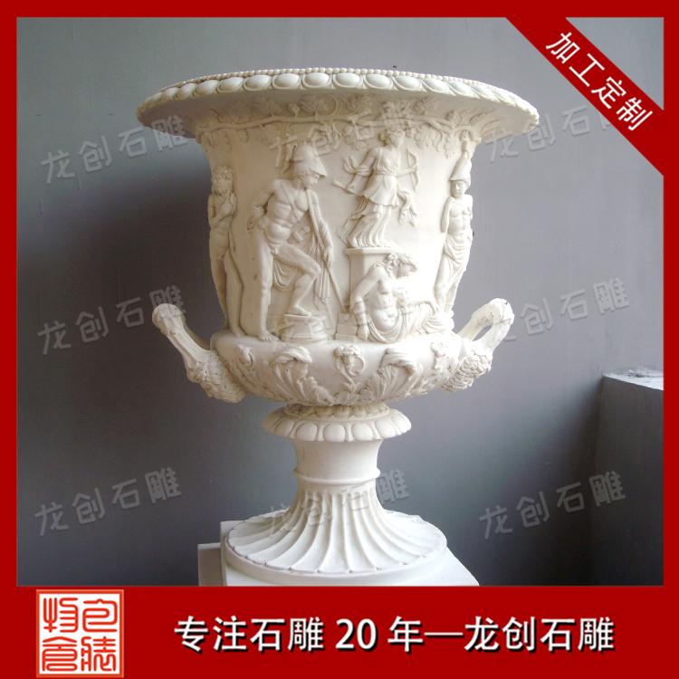 石雕花钵样式及图片