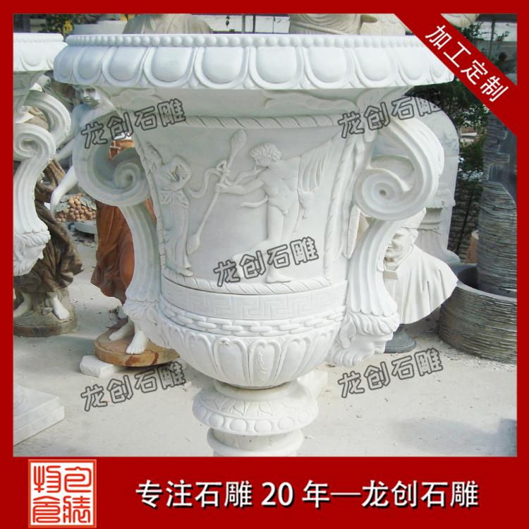 欧式石雕花盆图片