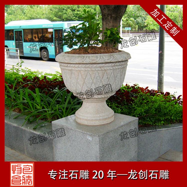 福建石雕花盆样式及图片