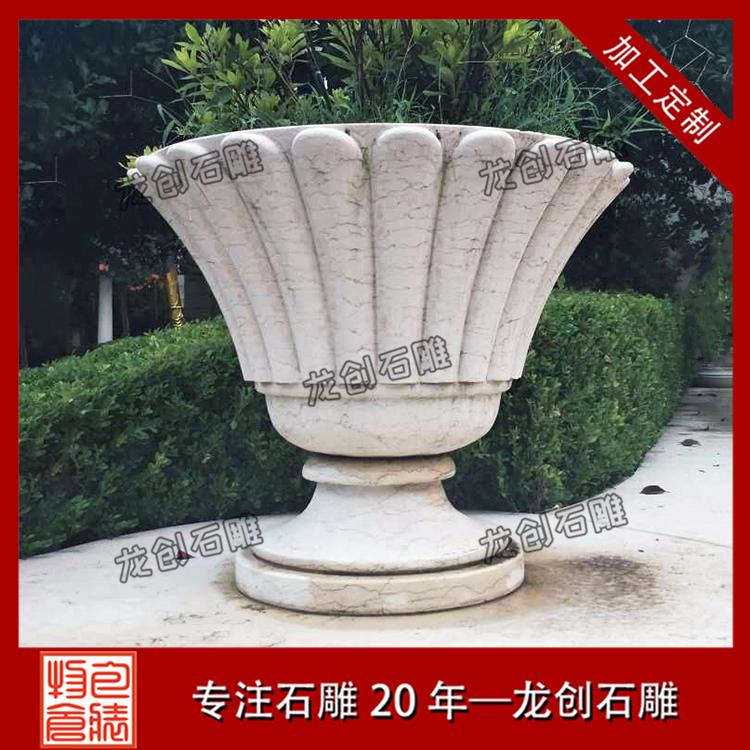中式石材花钵样式及图片