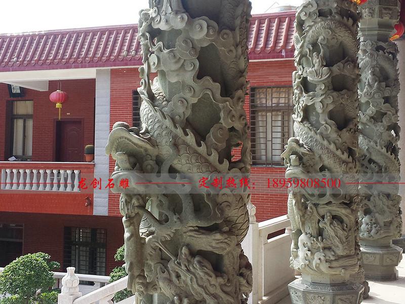 石雕龙柱价格要多少 石雕龙柱预算