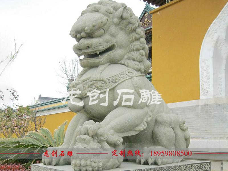 青石石雕狮子