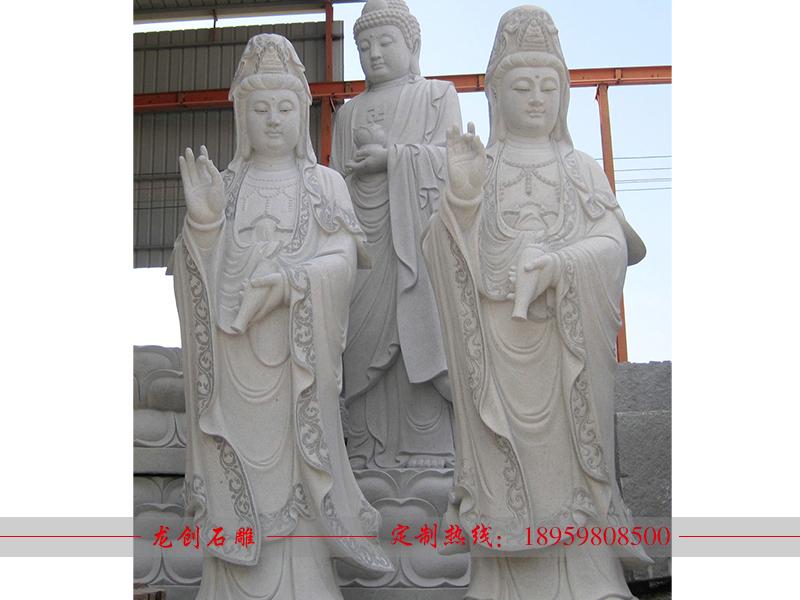 石雕观音佛像制作厂家——龙创石雕