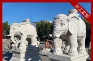 不同款式的寺庙石雕大象图片