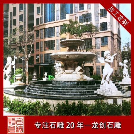 园林景观石雕喷泉水钵制作价格